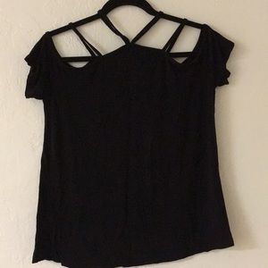 Tops - Strappy black casual top